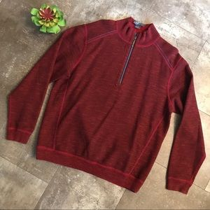 TOMMY BAHAMA flipsider reversible zip pullover L